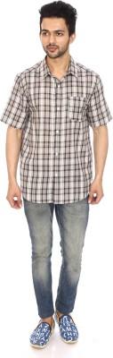 Kalaa Men's Checkered Casual Black, White Shirt