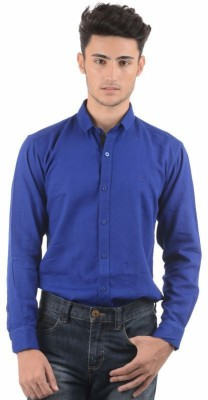 Winsome Deal Men's Solid Formal Blue Shirt
