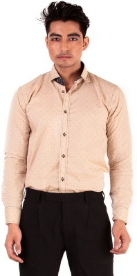 The G Street Men's Printed Casual Brown Shirt