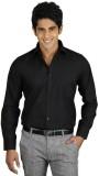 Sttoffa Men's Solid Casual Black Shirt