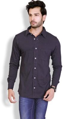 LUCfashion Men's Solid Casual Black, Maroon Shirt