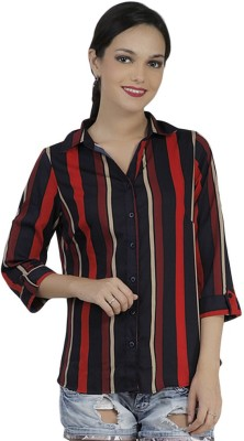 Mask Lifestyle Women,s Striped Casual Multicolor Shirt