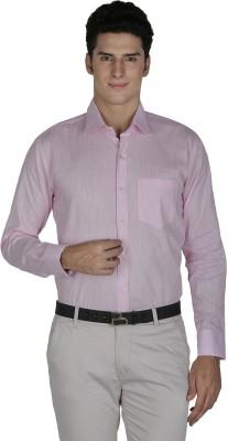 Asher Men's Solid Formal Pink Shirt