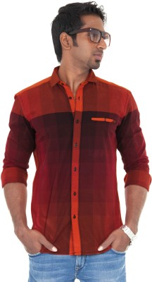 Passion Men's Checkered Casual Red Shirt