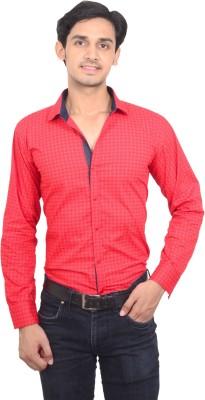 Jads Men's Printed Casual Red Shirt