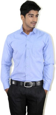 Piccolo Clothings Men's Solid Formal Light Blue Shirt