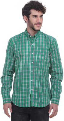 Fash-A-Holic Men,s Checkered Casual Green Shirt