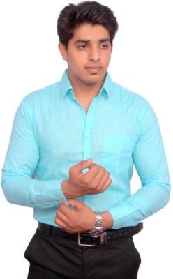Rose Wear Men's Solid Formal Light Blue Shirt