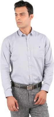 J Hampstead Men's Solid Casual Blue Shirt