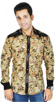 Hd Rascals Men's Printed Casual Brown Shirt