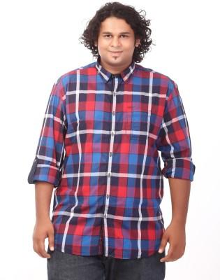 Ciroco Men's Checkered Casual Red Shirt
