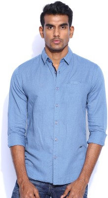 POE Men's Solid Casual Shirt