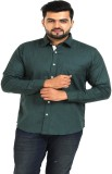 TT Men's Solid Casual Green Shirt