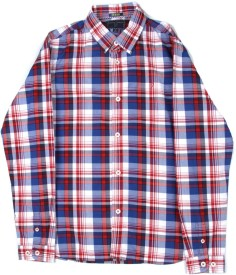 Indian Terrain Boys Checkered Casual White, Blue, Red Shirt
