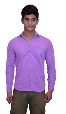 Lovanyaa Men's Solid Casual Purple, Beige, Blue Shirt