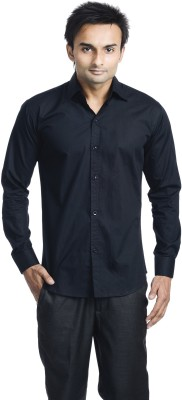 Vango Play Men's Solid Casual Black Shirt