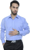 City Style Formal Shirts (Men's) - City Style Men's Solid Formal Blue Shirt