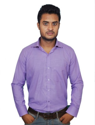 Smoky Men's Solid Formal Purple Shirt
