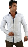 Just Differ Men's Checkered Formal White...
