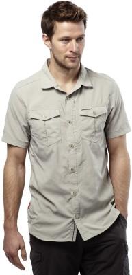 Craghoppers Men's Solid Sports Beige Shirt