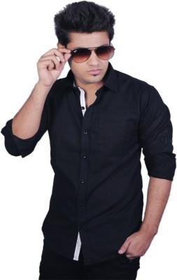 Zavlin Men,s Solid Casual Black Shirt