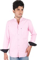 West Flax Formal Shirts (Men's) - West Flax Men's Solid Formal Pink Shirt