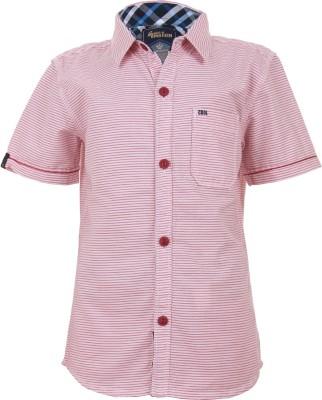 Einstein Boy's Printed Casual Red Shirt