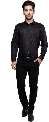 Miche Jeffer Men's Printed Casual Black, Red Shirt