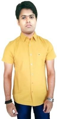 Southbay Mens Solid Casual Yellow Shirt