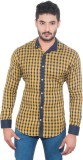 One Sphere Men's Solid Casual Yellow Shi...