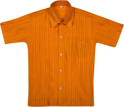Thangamagan Baby Boy's Striped Casual Orange Shirt