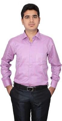 Indocity Men's Checkered Formal Pink, Pink Shirt