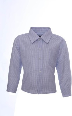 Sheena Boy's Solid Party Blue Shirt