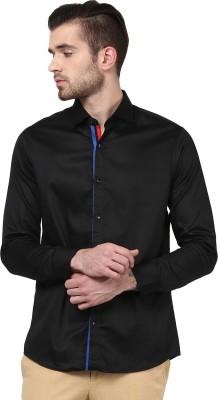 Invern Men's Solid Casual Black Shirt