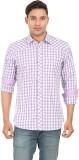 Don Vino Men's Checkered Casual Purple, ...