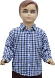 Urban Forest Boys Checkered Casual Blue ...