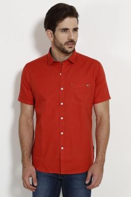 SIN Men's Solid Casual Maroon Shirt