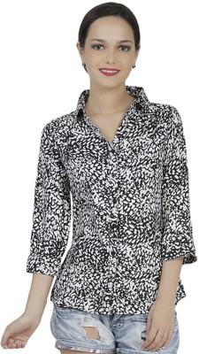 Mask Lifestyle Women,s Animal Print Casual Multicolor Shirt