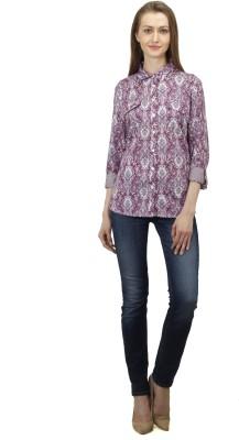 Splendent Women's Printed Casual Multicolor Shirt