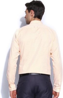 Mast & Harbour Men's Checkered Formal White Shirt