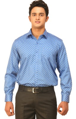 Seven Days Men's Printed Casual Blue Shirt