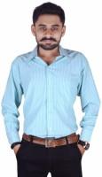 Try Me Formal Shirts (Men's) - Try Me Men's Solid Formal Blue Shirt