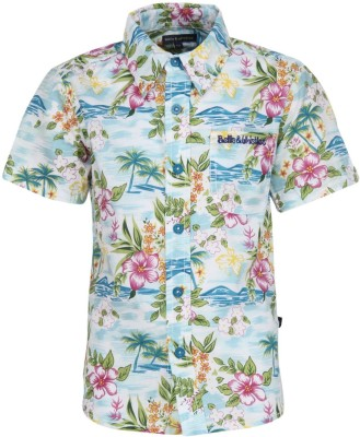Bells and Whistles Boy's Printed Casual Blue Shirt