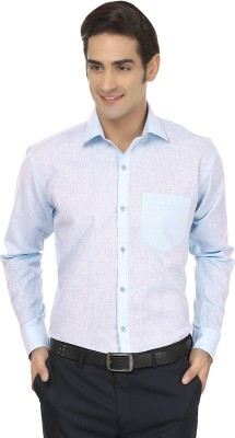 Jainish Men's Solid Formal Light Blue Shirt
