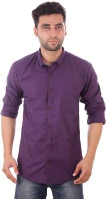Studio Nexx Men's Solid Casual Purple Shirt