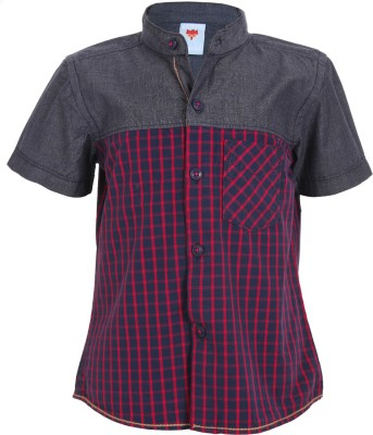 Ice Boys Boy's Printed Casual Red Shirt