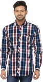 Louis Martin Men's Checkered Casual Mult...