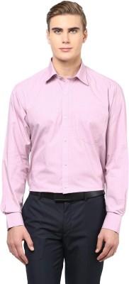 American Crew Men's Solid Formal Pink Shirt