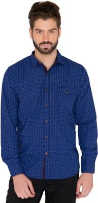 Jadeblue Men's Printed Casual Blue Shirt