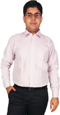 Kuons Avenue Men's Solid Formal Pink Shirt